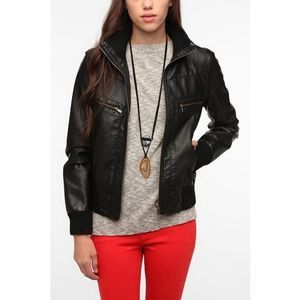 Urban Outfitters BDG Vegan Leather Bomber Jacket